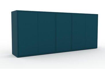 Enfilade - Bleu pétrole, modèle de caractère, buffet, avec porte Bleu pétrole - 190 x 80 x 35 cm, modulable
