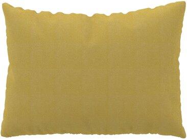 Coussin Jaune Moutarde - 48x65 cm - Housse en Tissu grossier. Coussin de canapé moelleux