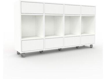 Système d'étagère - Blanc, modulable, rangements, avec tiroir Blanc - 156 x 87 x 35 cm