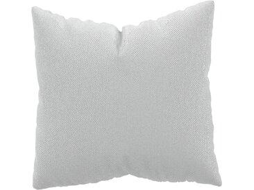 Coussin Blanc - 50x50 cm - Housse en Textile tissé. Coussin de canapé moelleux