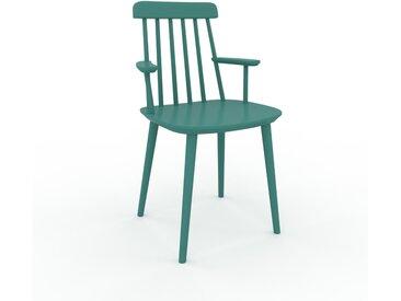 Chaise avec accoudoirs Vert d'eau de 43 x 82 x 53 cm au design unique, configurable