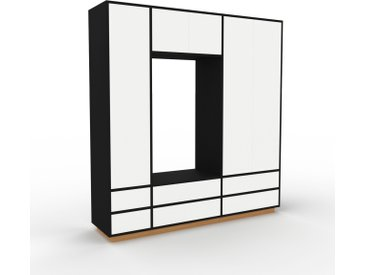 Armoire - Blanc, design, pour documents, avec porte Blanc et tiroir Blanc - 190 x 200 x 47 cm