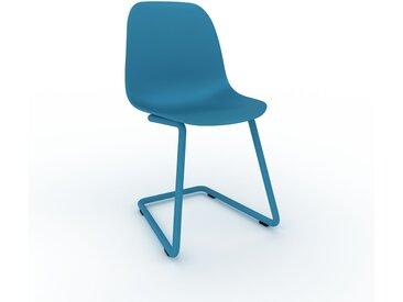 Chaise cantilever bleu de 49 x 82 x 44 cm au design unique, configurable
