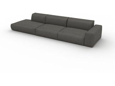 Canapé convertible - Gris ardoise, design arrondi, canapé lit confortable, moelleux et lit confortable - 370 x 72 x 107 cm, modulable