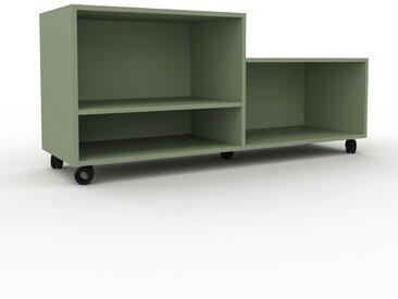 Caisson à roulette - Vert de gris, design, rangement mobile raffiné, pratique - 152 x 68 x 47 cm, modulable