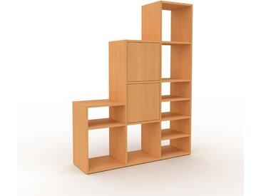 Système d'étagère - Hêtre, modulable, rangements, avec porte Hêtre - 118 x 157 x 35 cm