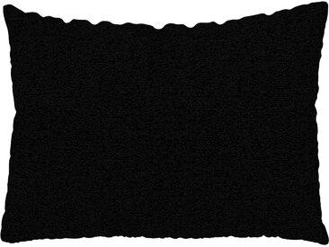 Coussin Noir Nuit - 48x65 cm - Housse en Tissu grossier. Coussin de canapé moelleux
