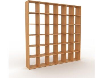 Système d'étagère - Chêne, design contemporain, rangements de qualité, modulables - 233 x 233 x 35 cm, personnalisable