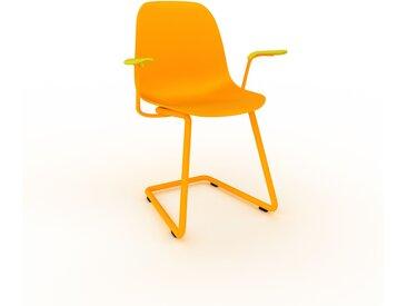 Chaise cantilever jaune de 49 x 82 x 62 cm au design unique, configurable
