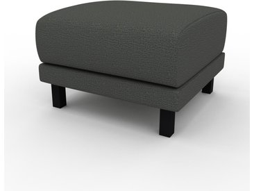 Pouf - Gris Pierre, design épuré, 60 x 42 x 60 cm, modulable