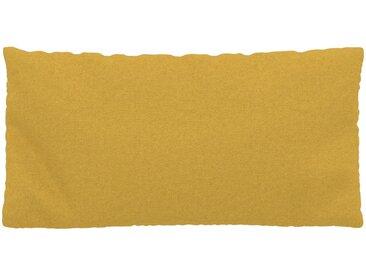 Coussin Jaune Colza - 40x80 cm - Housse en Laine. Coussin de canapé moelleux