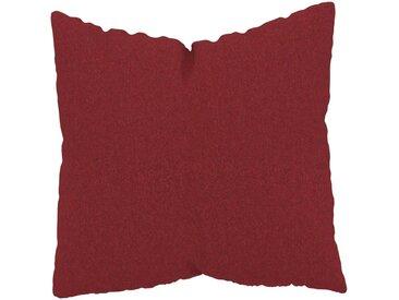 Coussin Rouge Cerise - 50x50 cm - Housse en Laine. Coussin de canapé moelleux