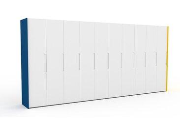 Dressing - Blanc, design, armoire penderie pour chambre ou entrée, à portes battantes - 504 x 233 x 62 cm, modulable