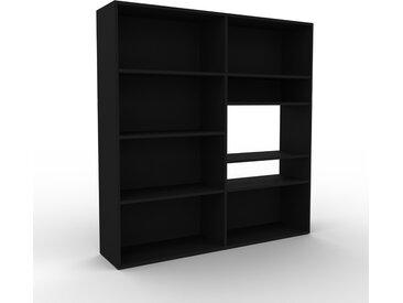 Range CD - Noir, design contemporain, meuble pour vinyles, DVD - 152 x 157 x 35 cm, personnalisable