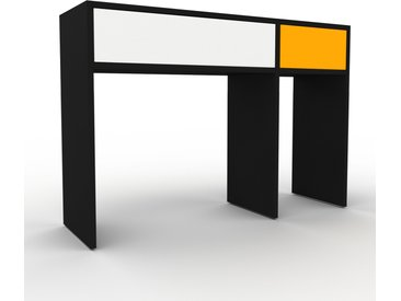 Table console - Noir, moderne, raffinée, avec tiroir Blanc - 116 x 80 x 35 cm, personnalisable
