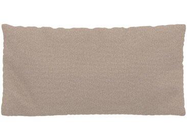 Coussin Beige Sable - 40x80 cm - Housse en Tissu Fin. Coussin de canapé moelleux