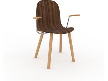 Chaise en bois Noyer de 49 x 83 x 62 cm au design unique, configurable