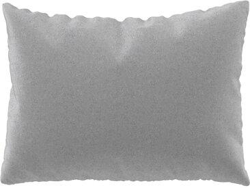 Coussin Gris Clair - 48x65 cm - Housse en Laine. Coussin de canapé moelleux