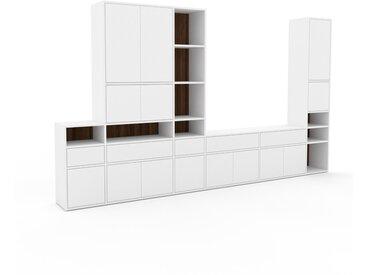 Placard - Blanc, moderne, rangements, avec porte Blanc et tiroir Blanc - 342 x 195 x 35 cm