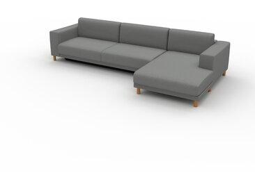 Canapé convertible - Gris Gravier, design épuré, canapé lit confortable, confortable avec coffre de rangement - 328 x 75 x 162 cm, modulable