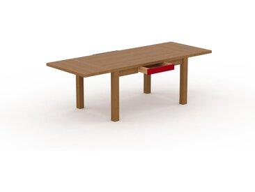 Table à manger extensible - Chêne, moderne, pour salle à manger ou cuisine, avec deux rallonges - 240 x 76 x 90 cm, personnalisable