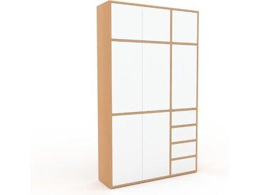 Placard - Blanc, moderne, rangements, avec porte Blanc et tiroir Blanc - 116 x 195 x 35 cm