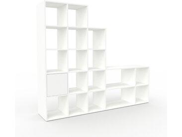 Système d'étagère - Blanc, modulable, rangements, avec porte Blanc - 231 x 195 x 47 cm