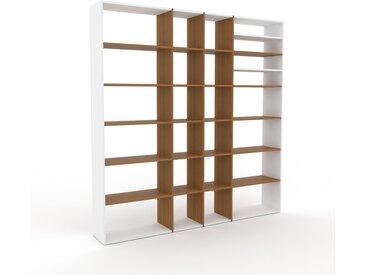 Bibliothèque - Chêne, design, étagère pour livres, sophistiquée, ouverte et fonctionelle - 229 x 233 x 35 cm, personnalisable