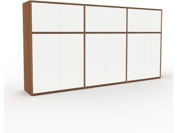 Buffet - Noyer, pièce modulable, enfilade, avec porte Blanc - 226 x 118 x 35 cm