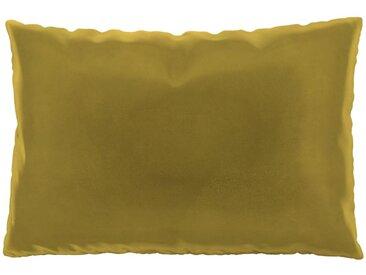Coussin Jaune Colza - 40x60 cm - Housse en Velours. Coussin de canapé moelleux