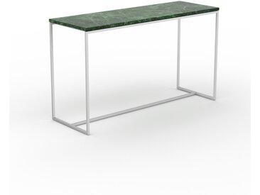 Table basse en marbre Vert Guatemala, design contemporain, bout de canapé luxueux et sophistiqué - 121 x 71 x 42 cm, personnalisable
