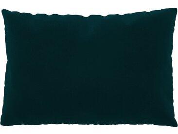 Coussin Bleu Pétrole - 40x60 cm - Housse en Velours. Coussin de canapé moelleux