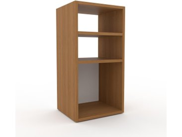 Table de chevet - Blanc, design minimaliste, table de nuit élégante - 41 x 80 x 35 cm, personnalisable