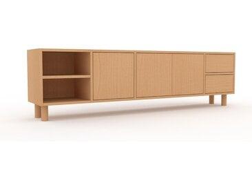 Buffet bas - Hêtre, design contemporain, avec porte Hêtre et tiroir Hêtre - 193 x 53 x 35 cm