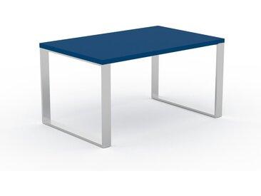 Bureau - Bleu, design industriel, table de travail de qualité, avec pieds en métal - 140 x 75 x 90 cm, personnalisable