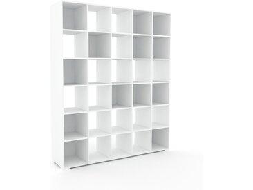 Système d'étagère - Blanc, design contemporain, rangements de qualité, modulables - 195 x 235 x 47 cm, personnalisable