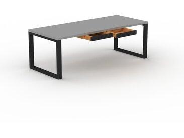 Bureau - Gris, moderne, table de travail, avec tiroir Wengé - 220 x 75 x 90 cm, modulable