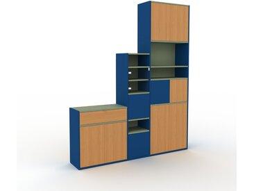Vitrine - Chêne, design, pour documents, avec porte Chêne et tiroir Chêne - 190 x 233 x 35 cm
