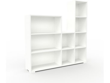 Range CD - Blanc, design contemporain, meuble pour vinyles, DVD - 154 x 158 x 35 cm, personnalisable