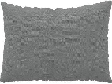 Coussin Grège - 48x65 cm - Housse en Textile tissé. Coussin de canapé moelleux