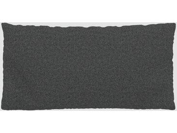 Coussin Gris pierre - 40x80 cm - Housse en Laine. Coussin de canapé moelleux