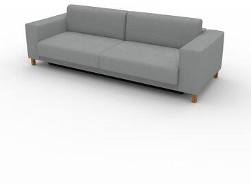 Canapé convertible - Grège, design épuré, canapé lit confortable, confortable avec coffre de rangement - 248 x 75 x 98 cm, modulable