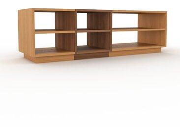 Meuble TV - Chêne, design, meuble hifi, multimedia sophistiqué, pratique - 154 x 47 x 47 cm, personnalisable