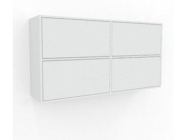 Étagère murale - Blanc, design flexible, placard, avec tiroir Blanc - 152 x 80 x 35 cm, configurable