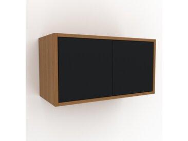 Étagère murale - Noir, modèle moderne, placard, avec porte Noir - 77 x 41 x 35 cm, modulable