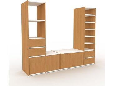 Meuble TV - Chêne, design, meuble hifi, multimedia, avec porte Chêne et tiroir Chêne - 193 x 157 x 47 cm