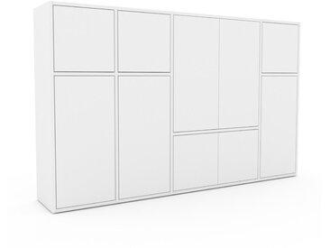 Buffet - Blanc, pièce modulable, enfilade, avec porte Blanc - 193 x 118 x 35 cm