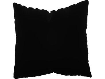 Coussin Noir - 50x50 cm - Housse en Velours. Coussin de canapé moelleux