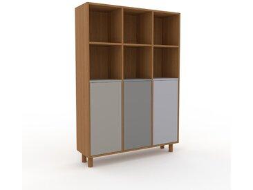 Buffet - Chêne, pièce modulable, enfilade, avec porte Gris sable - 118 x 168 x 35 cm