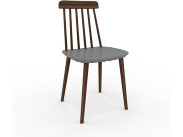 Chaise en bois gris de 43 x 82 x 44 cm au design unique, configurable
